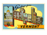 Greetings from Montpelier, Vermont Poster