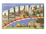 Greetings from Raleigh, North Carolina Prints