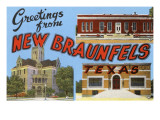 Greetings from New Braunfels, Texas Prints
