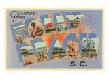 Grüße aus Folly Beach, South Carolina Poster