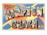 Greetings from Hampton Beach, New Hampshire Posters