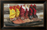 Ranch Boots Posters by David R. Stoecklein