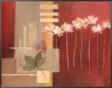 Contemporary Crimson II Framed Canvas Print by Carol Robinson