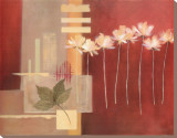 Contemporary Crimson II Stretched Canvas Print by Carol Robinson