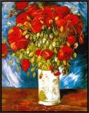 Poppies, c.1886 額入りキャンバスプリント : フィンセント・ファン・ゴッホ