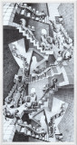House of Stairs Framed Canvas Print by M. C. Escher