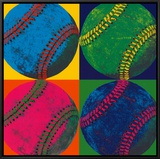 Ball Four: Baseball Framed Canvas Print