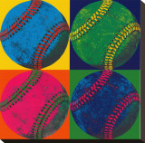 Ball Four: Baseball Stretched Canvas Print