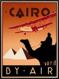 Cairo by Air Framed Canvas Print by Brian James