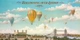 Ballooning over London Poster af Isiah and Benjamin Lane