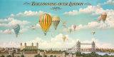 Ballooning over London Poster von Isiah and Benjamin Lane