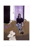 Self Portrait Seated, c.1973 高品質プリント : フランシス・ベーコン