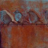Row of Sparrows I Prints by Norman Wyatt Jr.