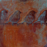Row of Sparrows II Posters by Norman Wyatt Jr.