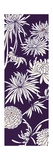 Vertical Chrysanthemum Print in Purple Posters