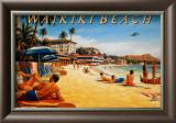 Waikiki Beach Art by Kerne Erickson