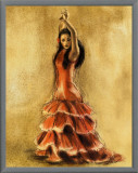 Flamenco Dancer I Framed Canvas Print by Caroline Gold