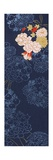 Vertical Flower Print in Blue Giclée-Premiumdruck