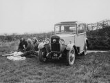 1931 Triumph Scorpion with Ladies Enjoying a Picnic Photographic Print