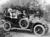 1907 Mercedes with Occupants in Edwardian Dress Photographic Print