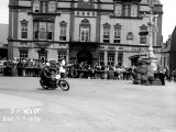 Vincent HRD, J.M. West in Isle of Man TT, Parliament Square Ramsey Photographic Print