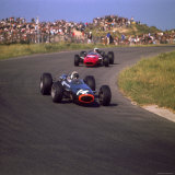 1966 Dutch Grand Prix, Jackie Stewart in BRM Lámina fotográfica