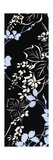 Vertical Floral Print in Black Reproduction procédé giclée Premium