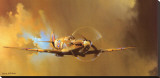 Spitfire Stretched Canvas Print by Barrie Clark