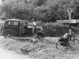 1935 Standard 10 in the Devon Countryside Papier Photo