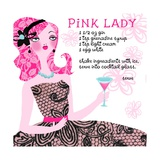 Pink Lady Drink Recipe Posters
