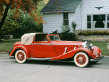1936 Mercedes Benz 500K Sedanca Drophead Papier Photo