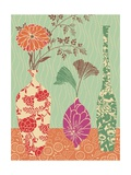 Floral Vase and Bowl Arrangement in Patterns, No.3 Posters