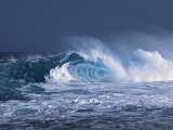 Waves on the North Shore of Oahu, Hawaii, USA Photographic Print by Charles Sleicher