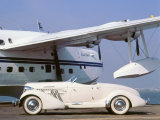 1935 Auburn 851 Speedster with Sunderland flying boat Photographic Print