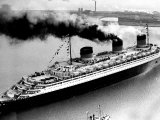 Ship Normandie Leaving Havre Photographic Print