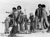 The Jackson 5 Performing in Switzerland on the Slopes, February 1979 Fotografisk tryk