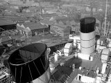 The Ocean Liner Queen Mary Berthed at Clydebank Docks, 1938 Photographic Print