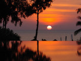 Sunset Over Thailand in the Aftermath of the Tsunami, in Phuket, Thailand Photographic Print