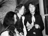 John Lennon Yoko Ono and Paul McCartney Attending the Yellow Submarine Premiere in London, Jul 1968 Photographic Print