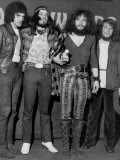 Jethro Tull Rock Group, Lead Singer Ian Anderson 2nd Right, Meledy Maker Awards Fotografisk tryk