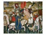 Gallant Scene Giclée-tryk af Giacomo Jaquerio