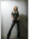 Sarah Harding Poses at a Girls Aloud Photo Shoot in K West Hotel, London, February 2005 Fotografisk tryk