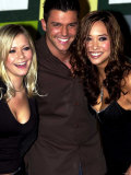 Hearsay Members Suzanne Shaw, Johnny Shentall and Myleene Klaas at Band Press Conference Photographic Print