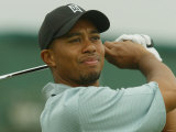 Tiger Woods During Practise Session of US Open, July 2002 Lámina fotográfica