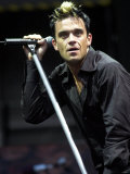 Robbie Williams, Stadium Tour in Ireland, July 2001 Photographic Print