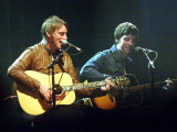 Paul Weller and Noel Gallagher on Stage at T in the Park July 2001 Photographic Print