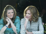 Trinny Woodall and Susannah Constantine Watch Wedding of Charles and Camilla Outside the Guildhall Photographic Print