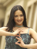Archana &quot;Archie&quot; Panjabi, May 2002. Star of the Films East is East and Bend It Like Beckham Photographic Print