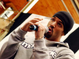 Craig David at the Renfrew Ferry, Glasgow. April 2003 Fotodruck