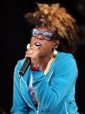 Kelis Singer August 2001 Performing on Stage at Gig on the Green Festival Fotografisk tryk